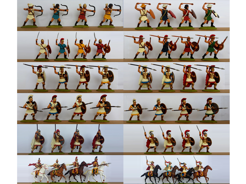 Painted 60 mm Greeks