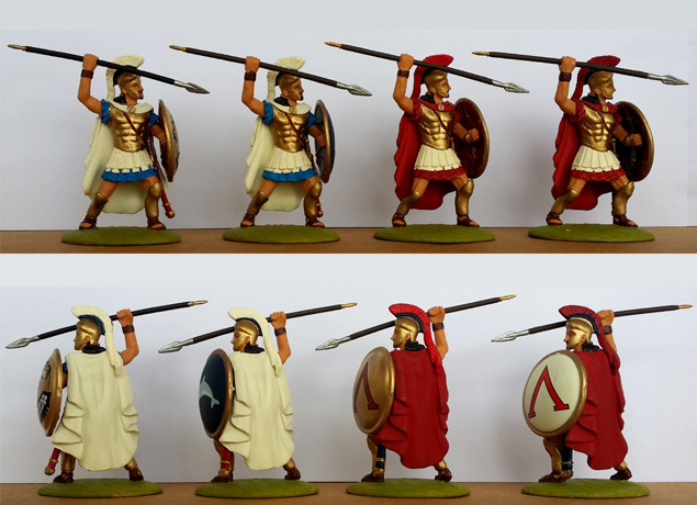 P-60 GRK Hoplites-Sacred Band (+ painted shield)