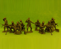 60 WW2-AMC 03 FF Machine-Gun Section(Free French Helmets)