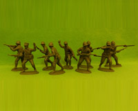 60F WW2-AMC 01 FF Rifles-Assault Section (Free French Helmets)