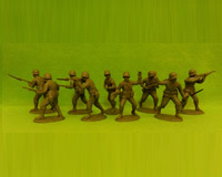 60P WW2-AMC 01 PH Rifles-Assault Section(Plain Helmets)