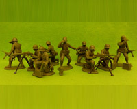 60P WW2-AMC 03 PH Machine-Gun Section(Plain Helmets)